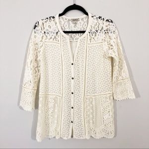 Lucky Brand | Lace Mix Top